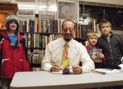 Kids clamor to see author