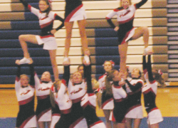 Cheer team takes second at tournaments