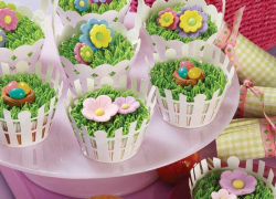 Easter basket cupcakes add a special touch