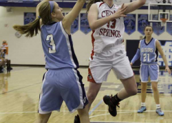 Cedar girls' varsity loses at district to Mona Shores 50-39