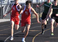 Boys track posts double victories