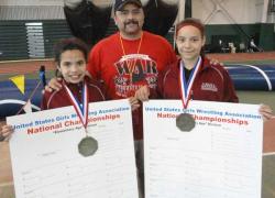 Girls earn national wrestling titles