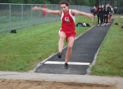 Girls track team goes undefeated