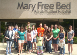 Anatomy and physiology class visits Mary Free Bed