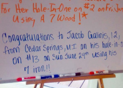 12-year-old gets hole in one