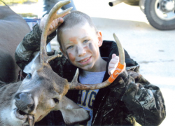 Seven-year-old gets buck