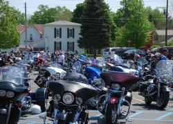 Memorial ride stops in Cedar Springs