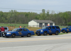Man leads troopers on chase