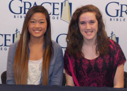 Two Red Hawks sign to play b-ball at Grace