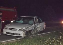 Driver falls asleep; hits oncoming car
