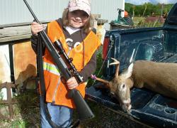 Girl gets first deer