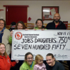 Red Flannel Festival presents community share check to Job's Daughters
