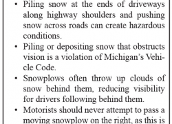 MDOT warns motorists, private plows of winter hazards