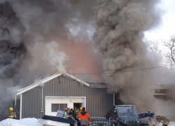 Fire in Oakfield Township