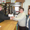 Library receives matching fundraising check