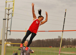 Lady Red Hawks win meet, take second at invite