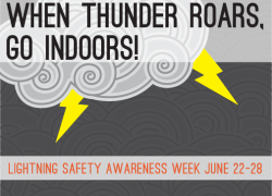 When the thunder roars, get indoors