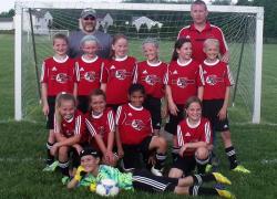 C.A.S.S.A Tri-Hawks U10 girls win Division title