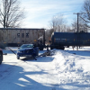 Driver slides into freight train