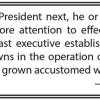 Where the Presidency is headed
