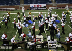 Marching Red Hawks finish ninth at state