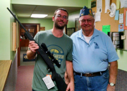Rifle raffle winner