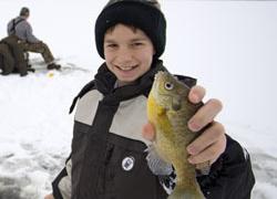 Winter fishing in Michigan