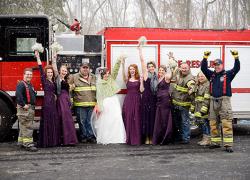 Smokin' hot wedding causes 911 call