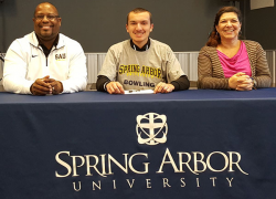 Plank to bowl at Spring Arbor
