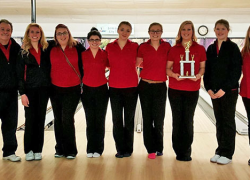 Red Hawk girl bowlers take 2nd