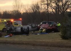 Four injured in rollover crash