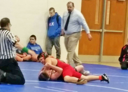 Middle School wrestles strong