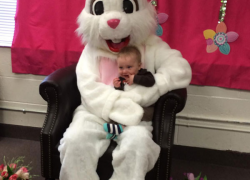 Easter bunny at the library