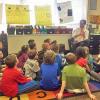 Schuette reads to Beach 2nd graders
