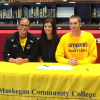 Sam Taylor signs to play at Muskegon Community College