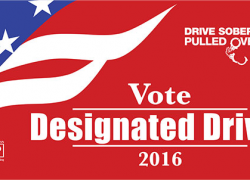 Whatever your party, choose a designated driver