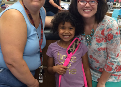 Library awards backpacks to readers