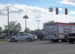 Three car crash sends teen to hospital