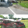 Distracted driver causes four-car crash