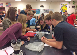 Students study Cedar Creek health with Trout Unlimited