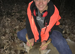 Teen gets buck first time hunting