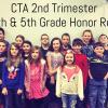 Congratulations 4th and 5th grade Honor Roll