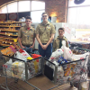 Boy Scouts collect food for pantry