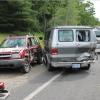 Three-car crash sends four to hospital