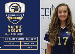 Maddie Brown named NCAA player of the week