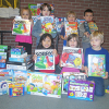 Kindergarteners collect Toys for Tots