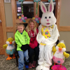 The Easter Bunny visits the library