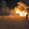 Fire guts garage, roof in Oakfield Township