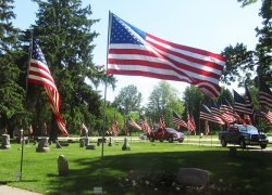 A way to remember: the Avenue of Flags