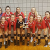Red Hawk volleyball takes second at Loy Norrix invite
